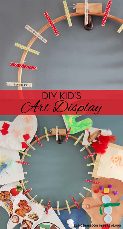 easy DIY kids art display
