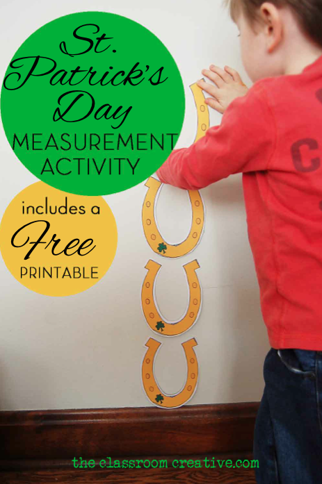 st patrick's day measurement activity free printable