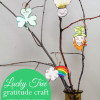 St. Patrick's Day Lucky Tree Gratitude Craft with Free Printable Ornaments