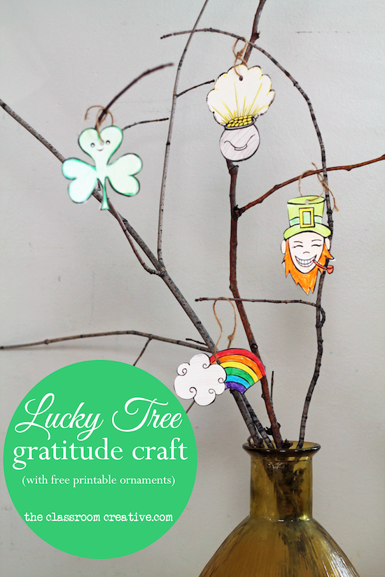 st patrick's day free printable gratitude craft