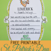 Limerick Writing Activity for St. Patrick's Day with Free Printable Template