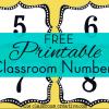 Classroom Organization Freebie: Classroom Number Printables