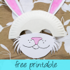 Free Printable Bunny Mask & Paper Plate Craft