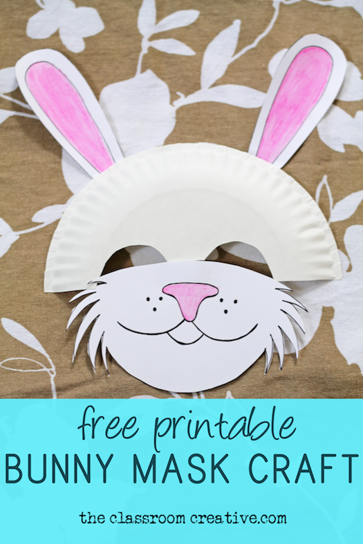 photo relating to Printable Bunny Mask named No cost Printable Bunny Mask Paper Plate Craft