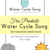 Free Printable Water Cycle Song