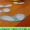 Easter Bunny Paw Prints: Free Printable