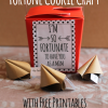 Mother's Day Fortune Cookie Craft with Free Printable Tags
