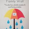 Spring Umbrella Word Family Word Wall