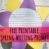 Free Printable Spring Bulletin Board Writing Prompt