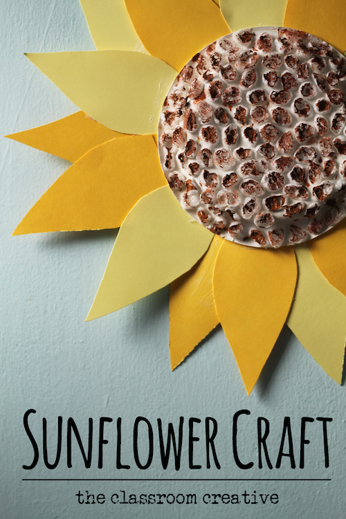 up cycled sunflower craft