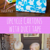 Repurposed Milk Cartons into Snack Packs with Duct Tape