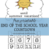 Free Printable End of the School Year Countdown to Summer