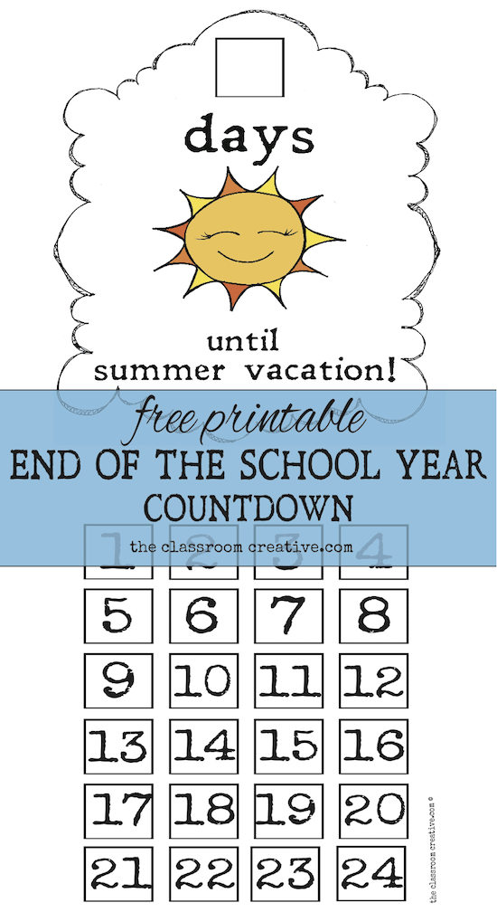 End of the School Year Countdown Ideas
