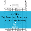 Free Handwriting Assessment Sheets: I Can Write Letters