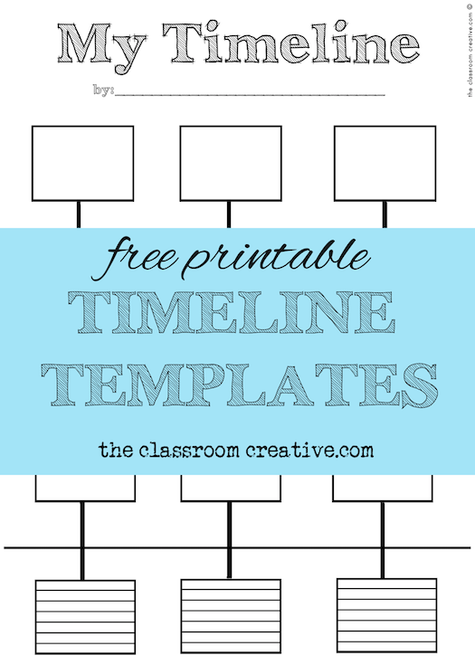 Free Printable Timeline Template and Activity Inspired by ...