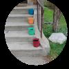 Garden with Kids Using Pots