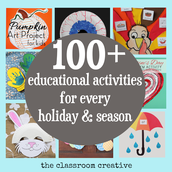 holiday and seasonal ideas for teachers and homeschoolers