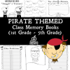 Pirate Class Memory Books: 1st, 2nd, 3rd, 4th, and 5th Grade!