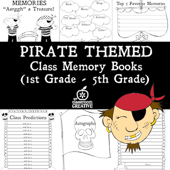 preview pirate themed class memory books