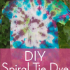 DIY Spiral Tie Dye for Kids