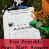 Pirate Math Activity: Finding Buried Treasure (One to One Correspondence)