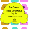 Ice Cream Math Activity: Skip Counting by 5s