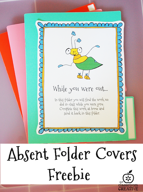 classroom management idea free printable absent folder covers