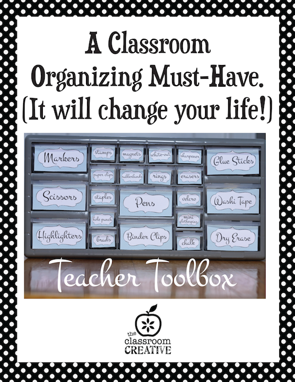classroom organizing idea-teacher toolbox