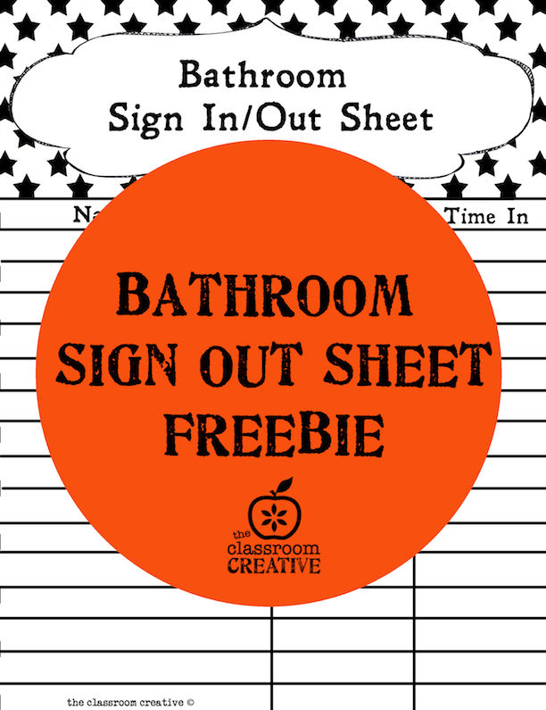 Free Printable Bathroom Sign Out Sheet
