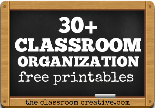 image about Free Organization Printables known as 30+ Clroom Company Tips and Totally free Printables