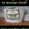 Library Return Book Bin Ideas and Sign (Free Printable)