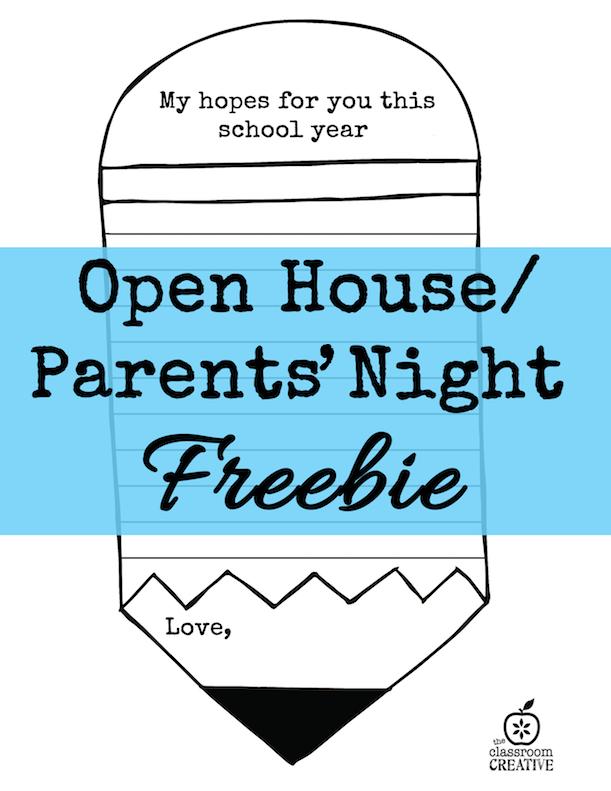 open house parents night freebie