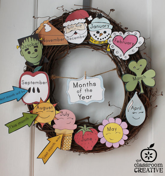 months of the year labels printables