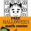 Free Halloween Math Center for Preschool, Kindergarten, and First Grade