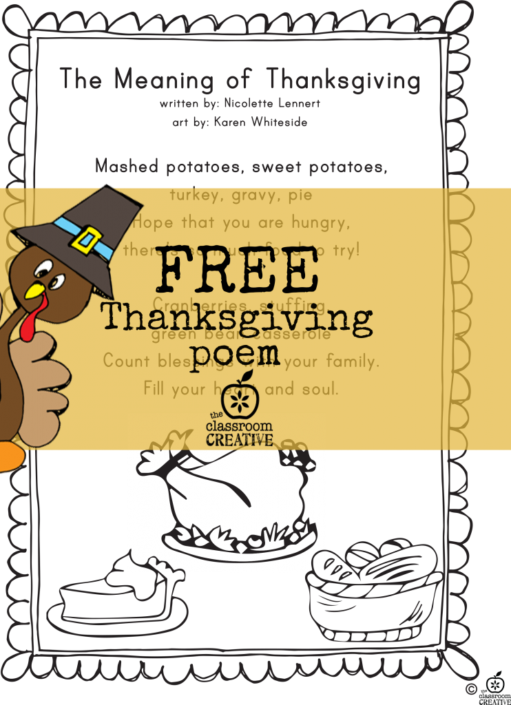 how to write a thanksgiving poem