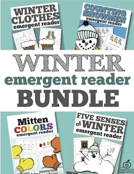 winter emergent reader bundle lteracy