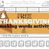 Free Thanksgiving Making Words Activity