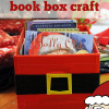 Christmas Craft: Santa Belly Book Bin