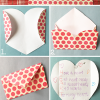 How to Fold a Heart Shape into an Envelope Tutorial