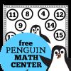 Penguin Math Center for Kindergarten and First Grade