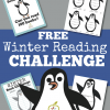 Winter Book Challenge and Free Printable Penguin Book Log