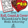 Free Valentine's Day Math Activity for Preschool, Kindergarten, and First Grade
