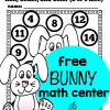 Free Spring and Easter Math Center {Bunny Themed}