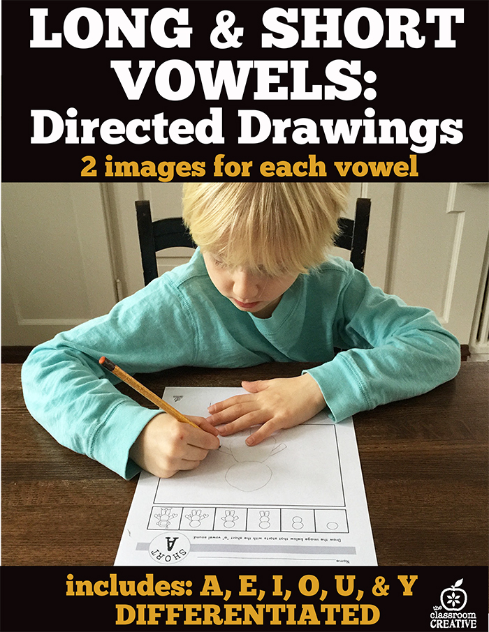 long and short vowels direct drawing