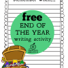 Free End of the Year Writing Activity: Remember When…