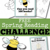Free Spring Reading Challenge (Bee Bulletin Board Printables and Book Logs)