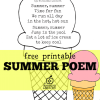 Free Printable Summer Poem for Preschool, Kindergarten, and First Grade