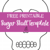 Free Day of the Dead Sugar Skull Template