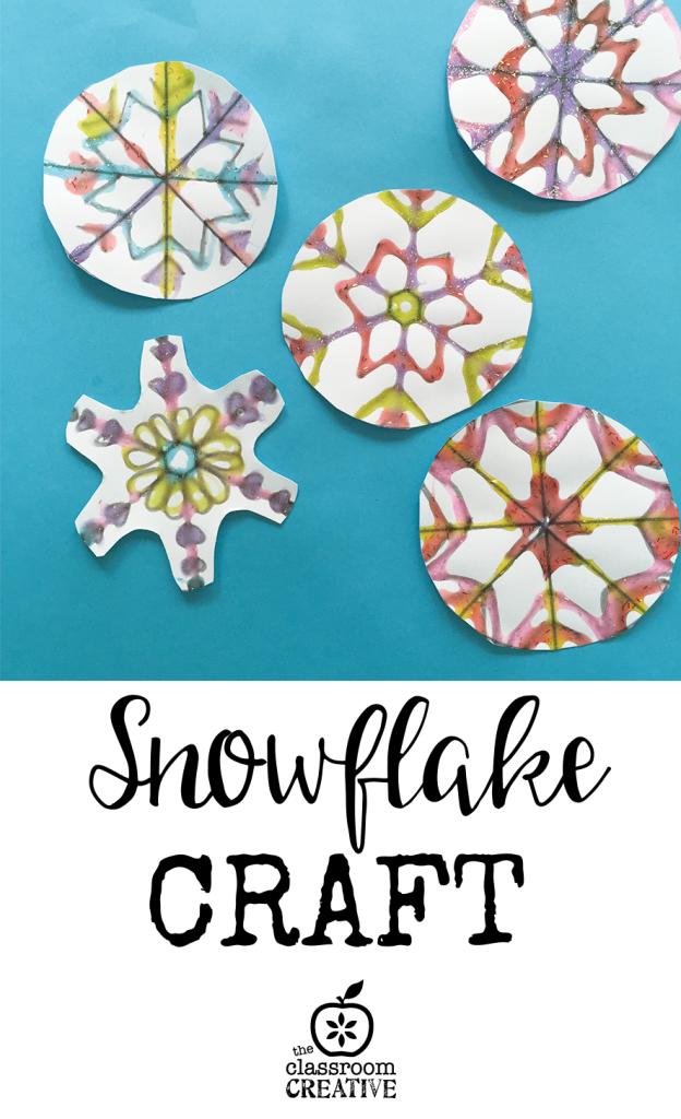 snowflake craft elmers glue