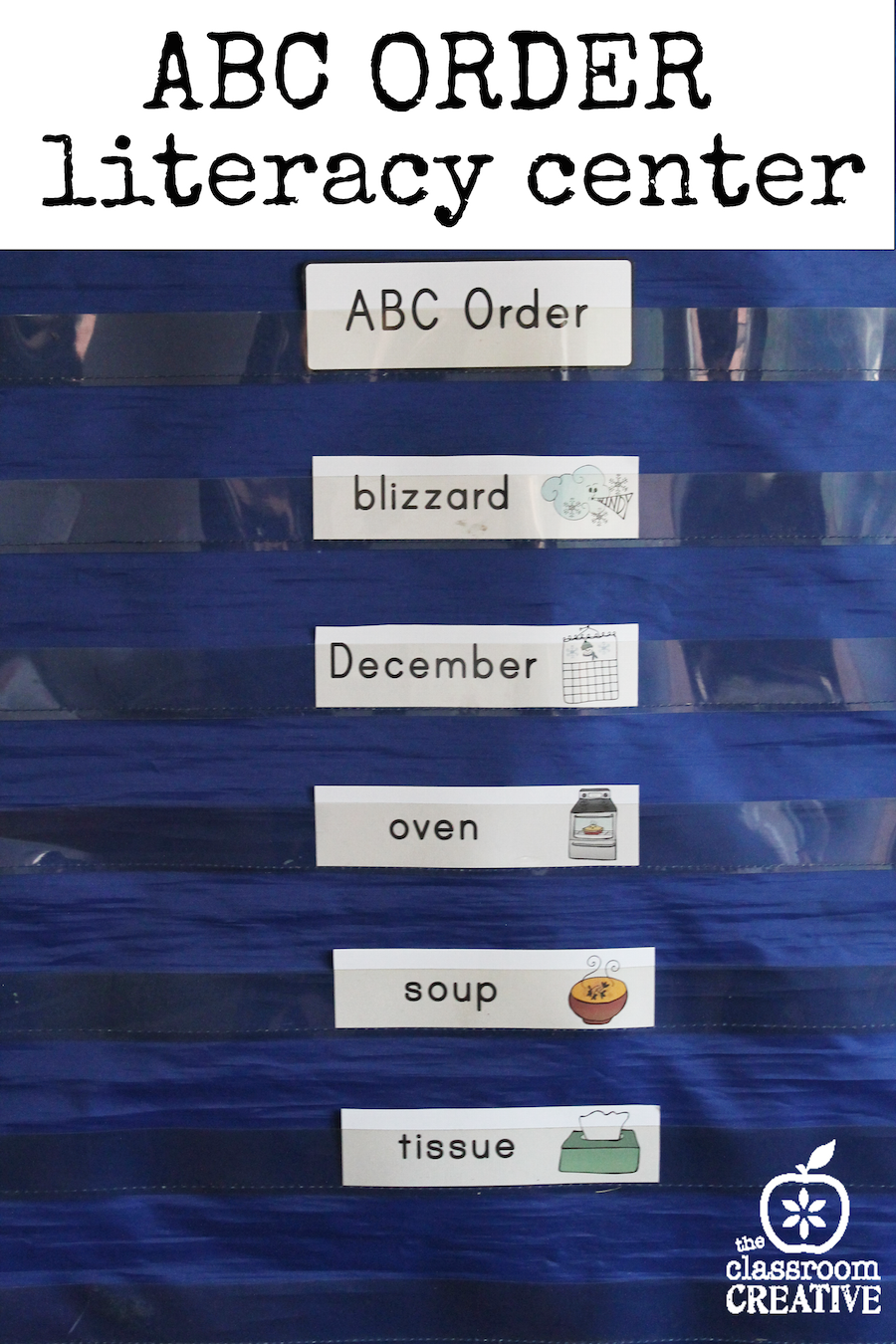 ABC order literacy center theclassroomcreative